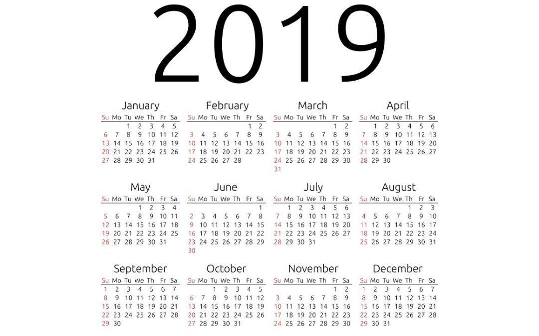 term dates 2019