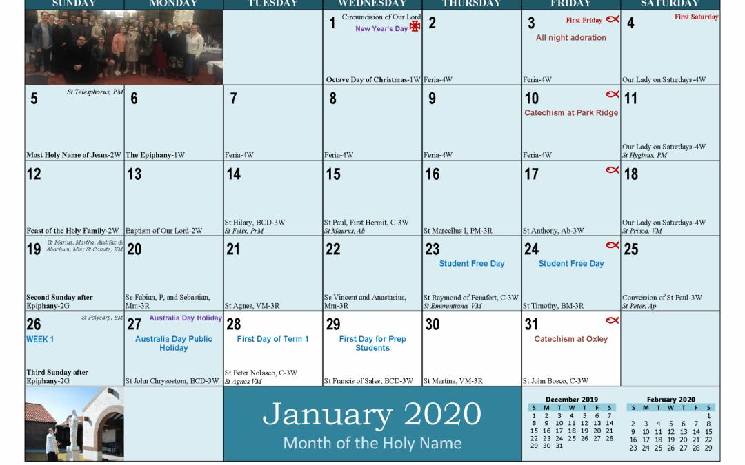 Term Dates 2020