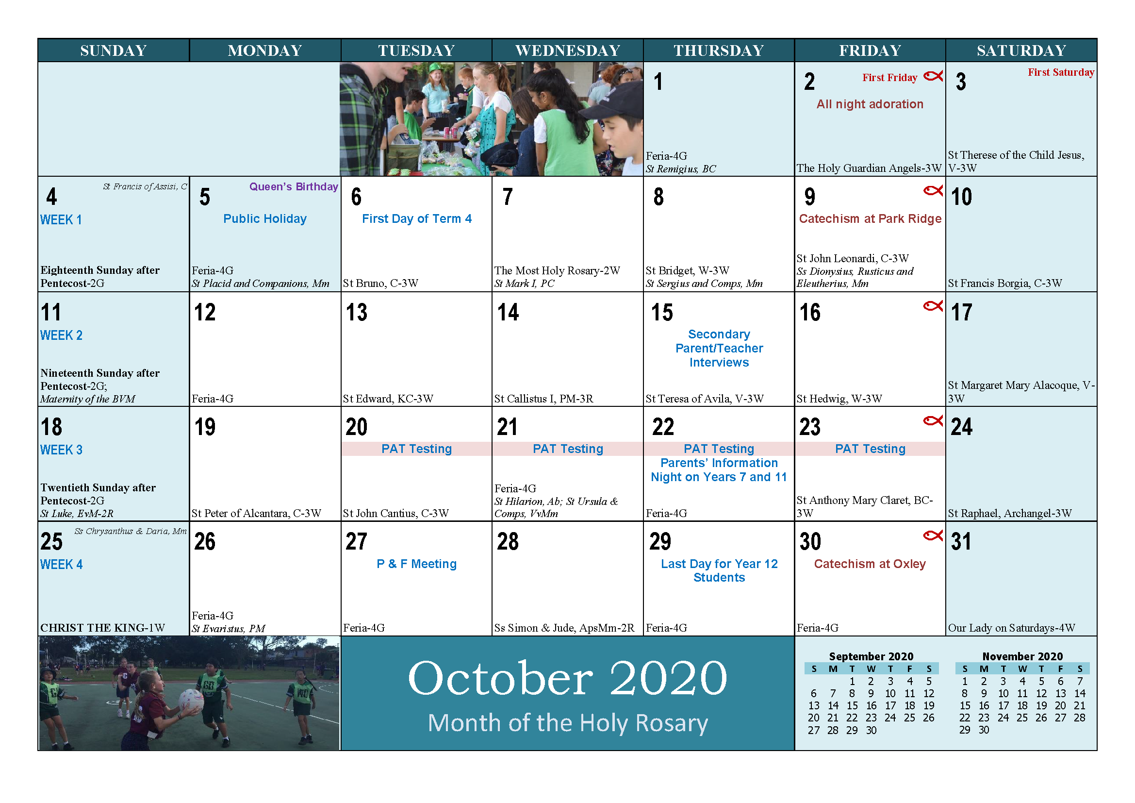 School and Parish Calendar 2020_Page_21